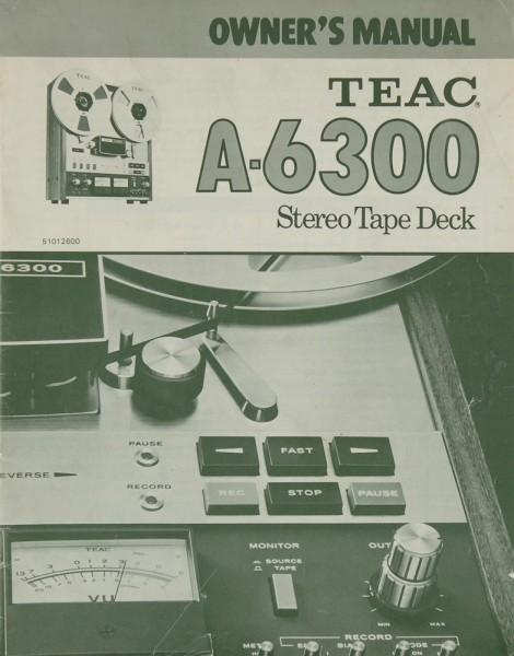 Teac A-6300 Bedienungsanleitung