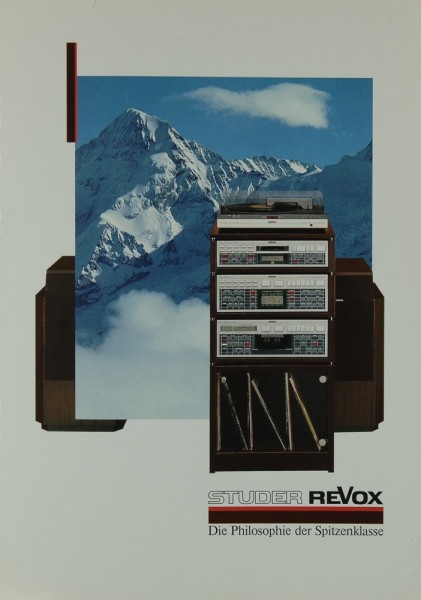 Revox Produktübersicht 1986 Prospekt / Katalog