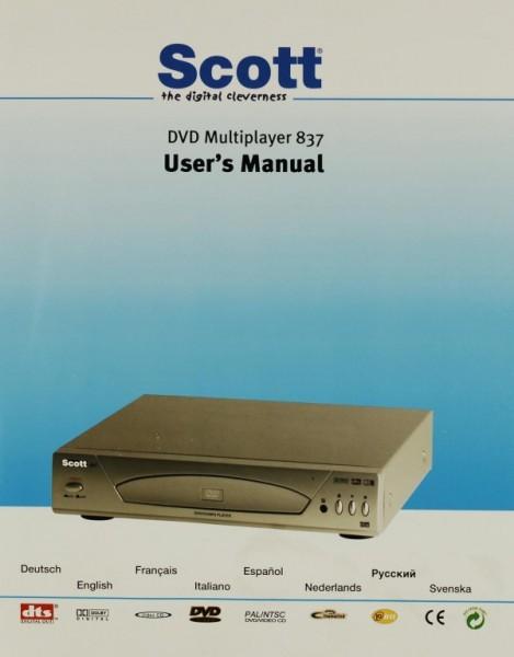 Scott DVD-Multiplayer 837 Bedienungsanleitung