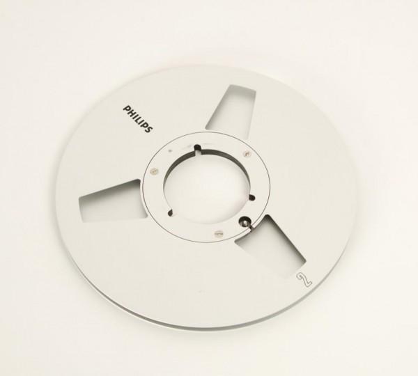 Philips 27er Leerspule NAB Metall silbern