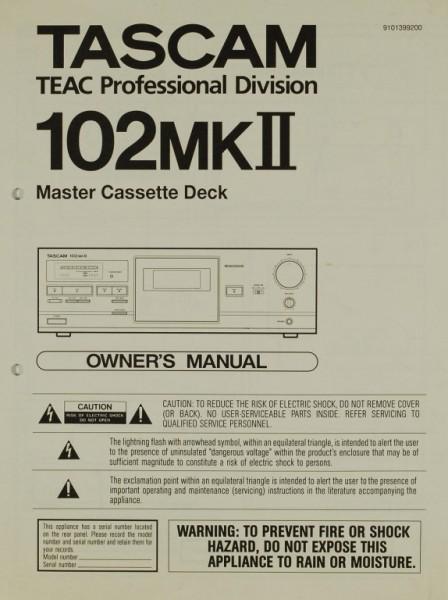 Tascam 102 MK II Bedienungsanleitung