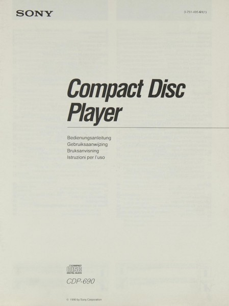 Sony CDP-690 Bedienungsanleitung