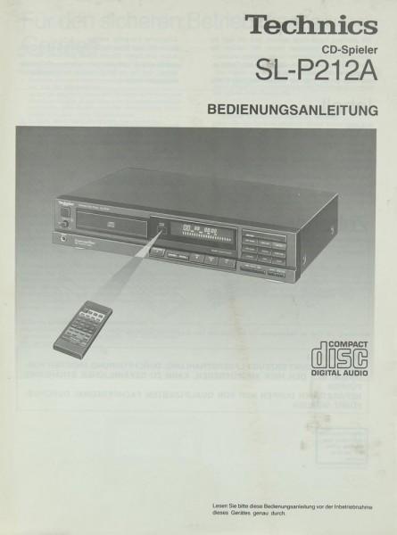 Technics SL-P 212 A Bedienungsanleitung