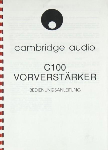 Cambridge C 100 Bedienungsanleitung