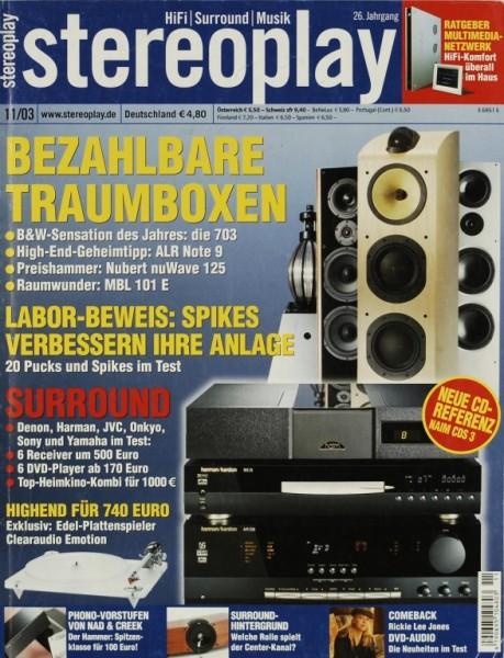 Stereoplay 11/2003 Zeitschrift