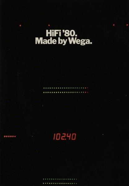 Wega HiFi ´80 / Made by Wega Prospekt / Katalog