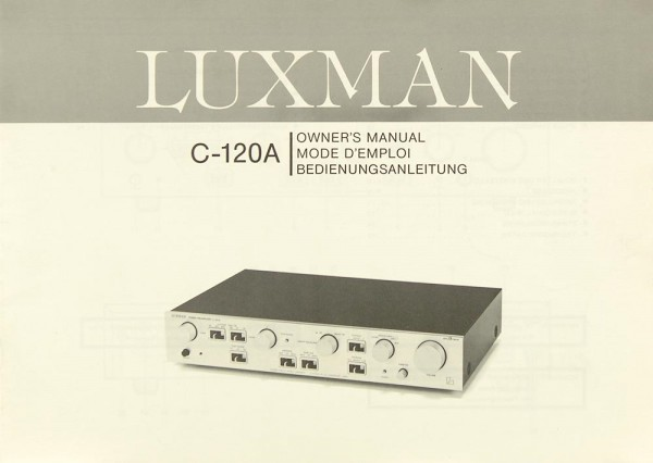 Luxman C-120 A Bedienungsanleitung