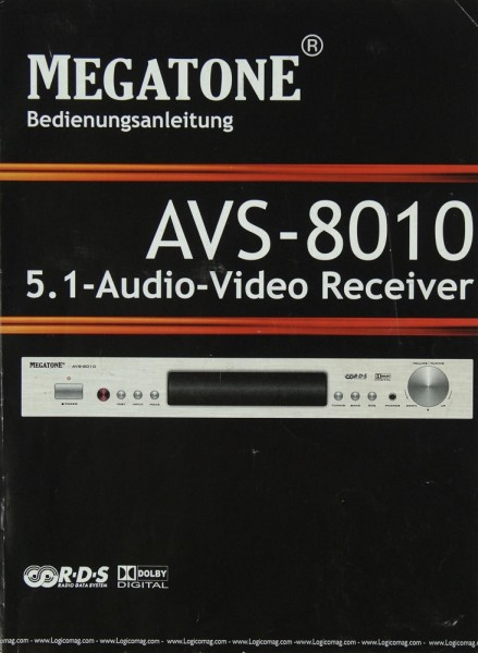 Megatone AVS-8010 Bedienungsanleitung