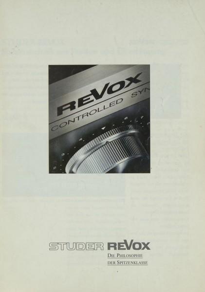 Revox B 791 / B 795 u.a. Prospekt / Katalog