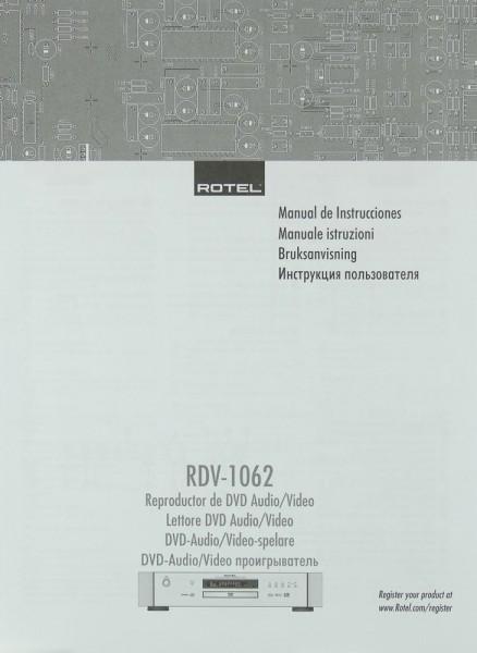 Rotel RDV-1062 Bedienungsanleitung