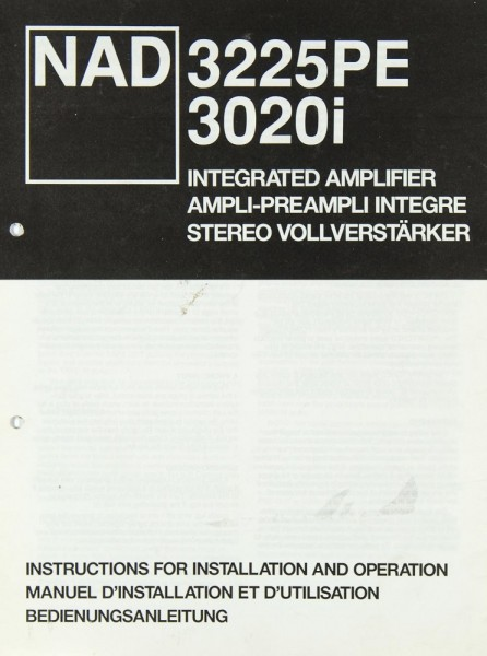NAD 3225 PE / 3020 i Bedienungsanleitung