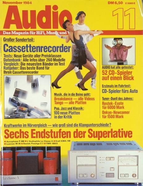 Audio 11/1984 Zeitschrift