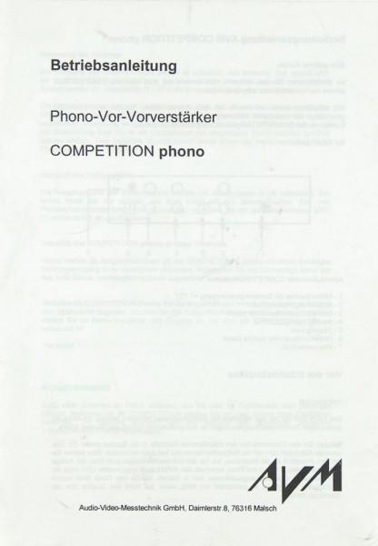 AVM Competition phono Bedienungsanleitung