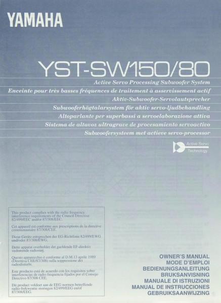 Yamaha YST-SW 150 / 80 Bedienungsanleitung