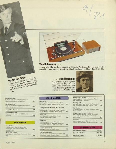 Audio 9/1981 Zeitschrift