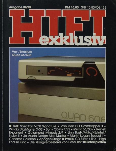 Hifi Exklusiv III / 90 Zeitschrift