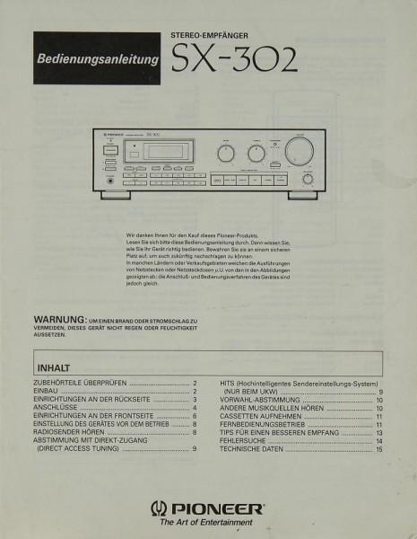 Pioneer SX-302 Bedienungsanleitung