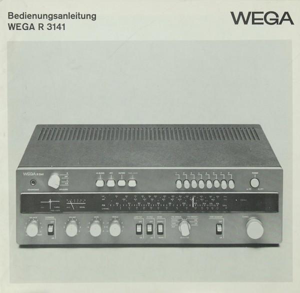 Wega WEGA R 3141 Bedienungsanleitung