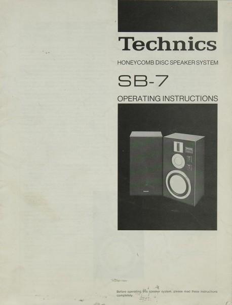 Technics SB-7 Bedienungsanleitung