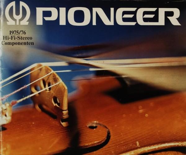 Pioneer 1975/76 Hi-Fi-Stereo Componenten Prospekt / Katalog