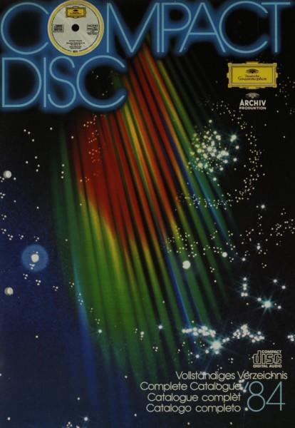 Deutsche Grammophon - Archiv Produktion Vollständiges Verzeichnis ´84 Prospekt / Katalog