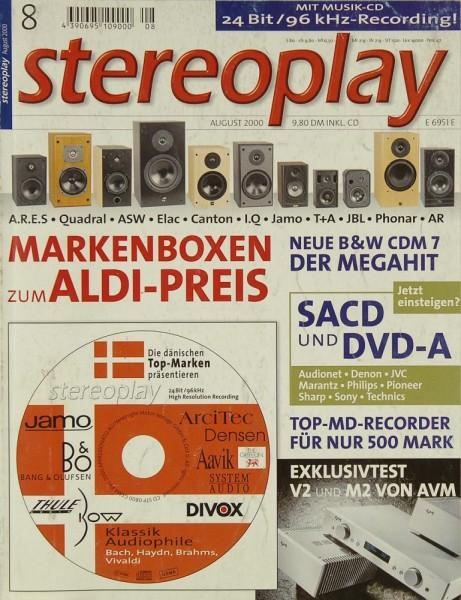 Stereoplay 8/2000 Zeitschrift