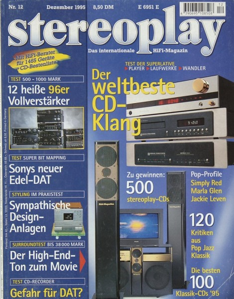 Stereoplay 12/1995 Zeitschrift