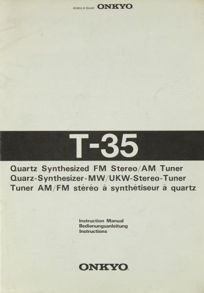 Onkyo T-35 Bedienungsanleitung
