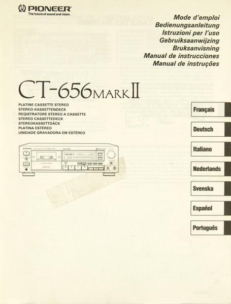 Pioneer CT-656 Mark II Bedienungsanleitung