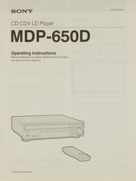 Sony MDP-650 D Bedienungsanleitung