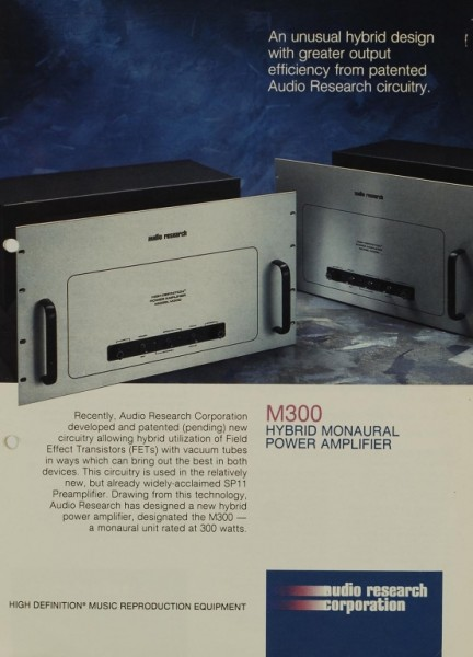 Audio Research Corporation M 300 Prospekt / Katalog