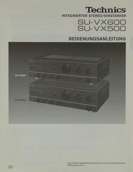 Technics SU-VX 600 / 500 Bedienungsanleitung