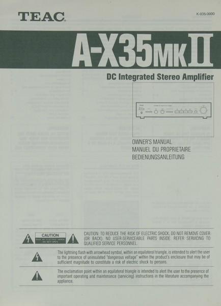 Teac A-X 35 MK II Bedienungsanleitung