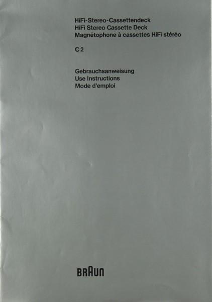Braun C 2 Bedienungsanleitung