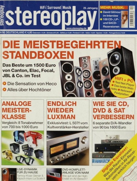 Stereoplay 4/2006 Zeitschrift
