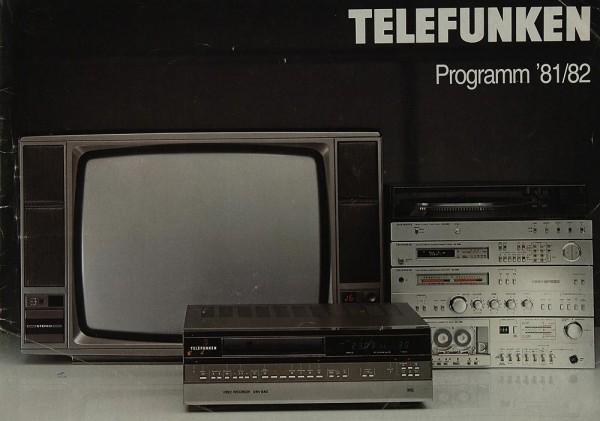 Telefunken Programm ´81/82 Prospekt / Katalog