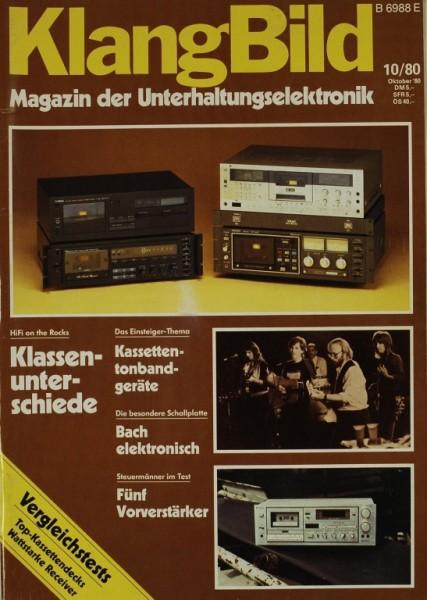 KlangBild 10/1980 Zeitschrift