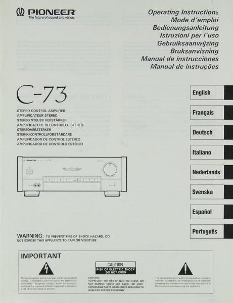 Pioneer C-73 Bedienungsanleitung