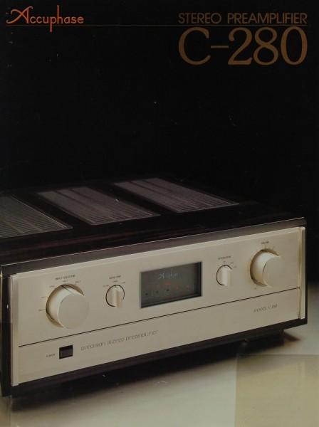 Accuphase C-280 Prospekt / Katalog
