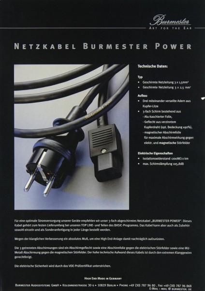 Burmester Silver / Power Prospekt / Katalog