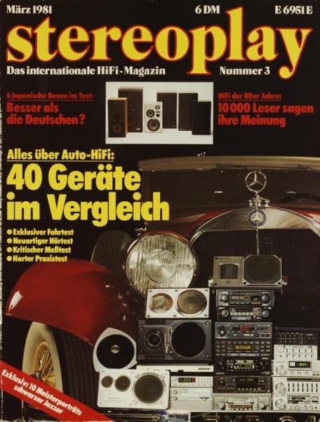 Stereoplay 3/1981 Zeitschrift
