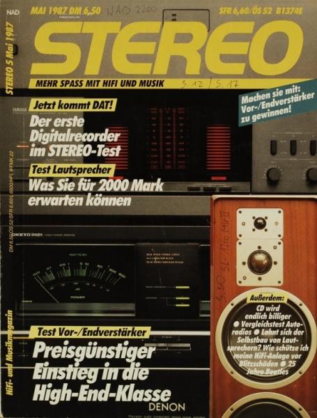 Stereo 5/1987 Zeitschrift