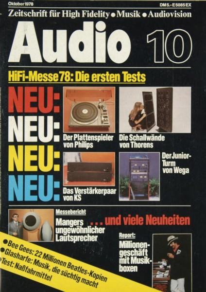 Audio 10/1978 Zeitschrift
