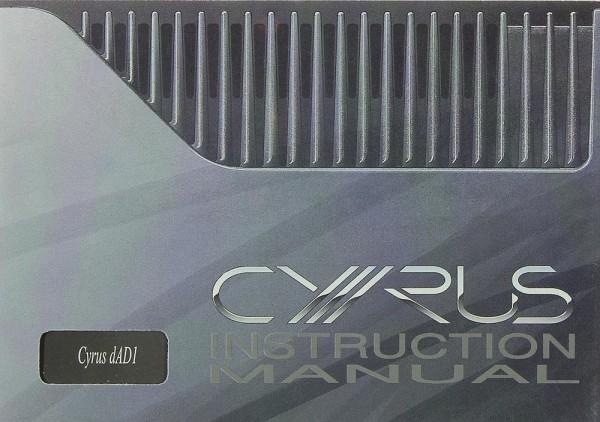 Mission / Cyrus Cyrus dAD1 Bedienungsanleitung