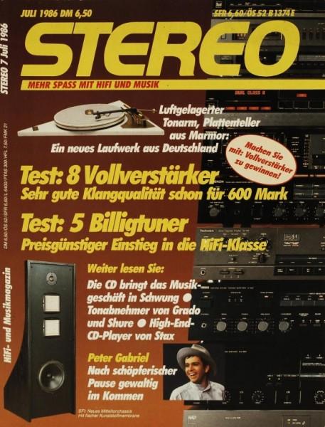 Stereo 7/1986 Zeitschrift