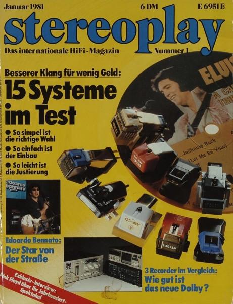 Stereoplay 1/1981 Zeitschrift