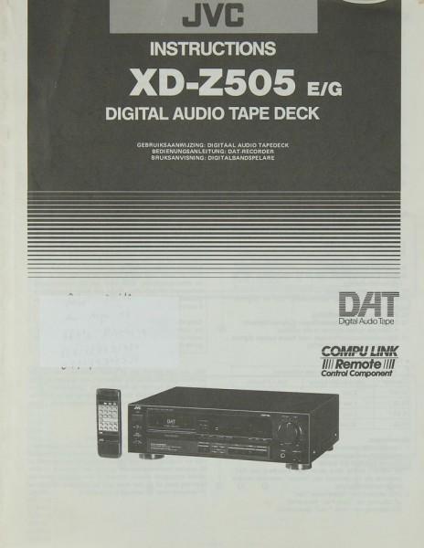 JVC XD-Z 505 E/G Bedienungsanleitung