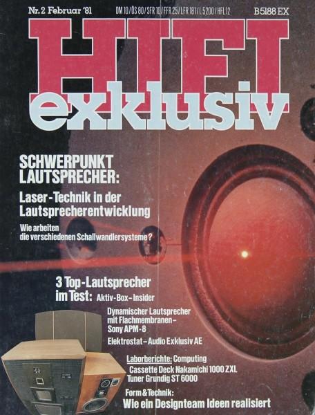 Hifi Exklusiv 2/1981 Zeitschrift