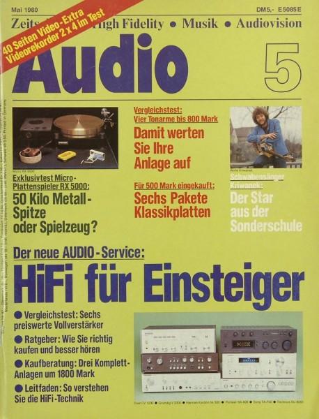 Audio 5/1980 Zeitschrift