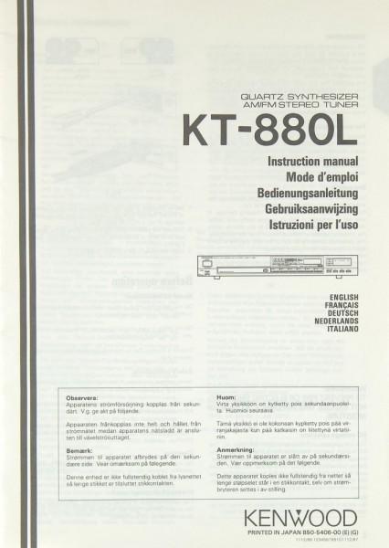 Kenwood KT-880 L Bedienungsanleitung